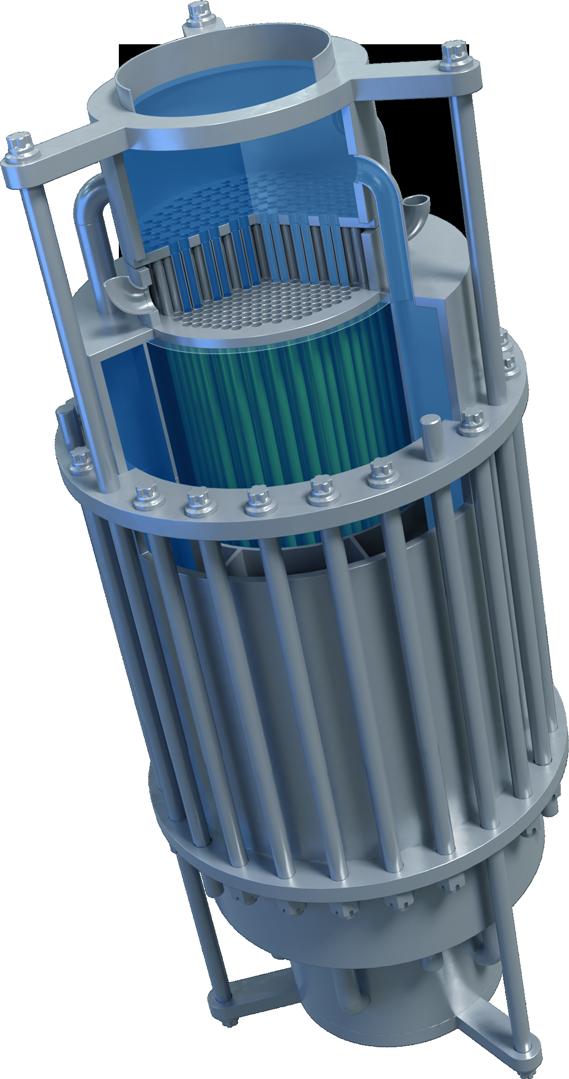 Dual Fluid Technologie: Reaktor Abbildung